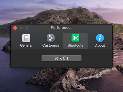 Toolbar Icons for One Switch toolbar icons toolbar shortcuts macos macapp general customize commander command about preferences