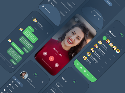 Video Call Mobile App app design call mobile app