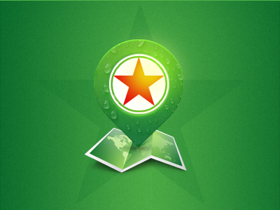 check in heineken foan82 green map pin checkin check psd star starclub
