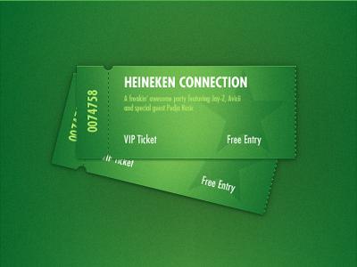 Tickets heineken foan82 green tickets awards gifts paper psd star starclub