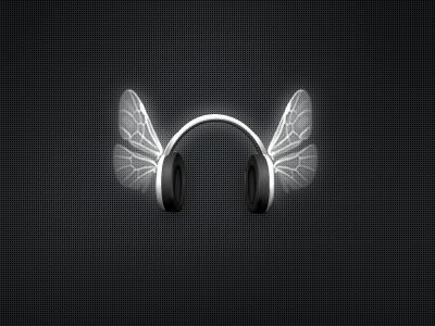 Music wings music wings icon black white phones headphones foan82 portugal renato miguel