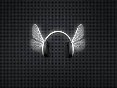 Music wings music wings icon black white phones headphones foan82 portugal renato miguel