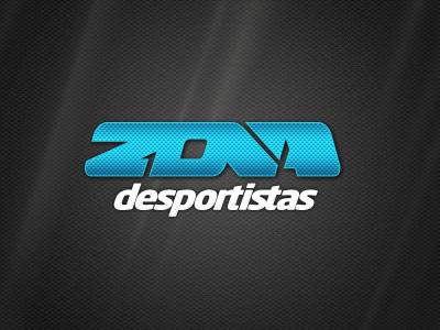 Zona Desportistas logo logotype typography type identity sports