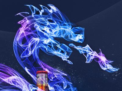 Dragon dragon symbol fire blue purple foan82 portugal