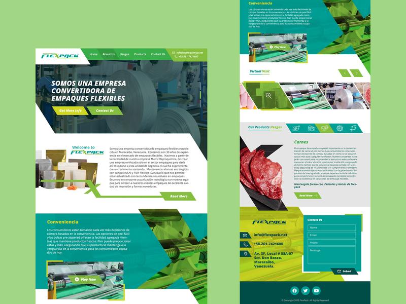 Flexpack Website UI Design landingpage landing page design homepage webdesign ui uidesign