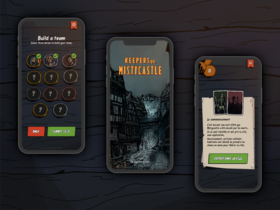 Keepers of Mistycastle 2 game design illustration ux card mobile ui design card game game