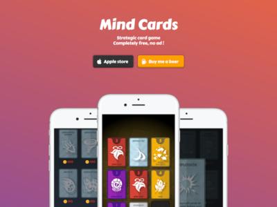 Mind Cards website