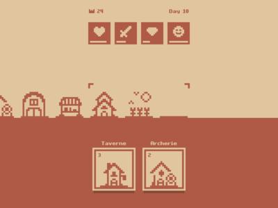Minimalist pixelart city builder game