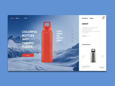 On-line store re-design minimal design web ux ui re-design on-line store ecommerce design