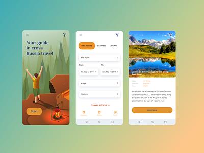 Android travel app camping travel app design design ui
