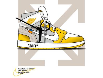 "Air Jordan 1 x Off White ""Canary"" nike running nike air max nike shoes nike air nike release sneakers raffle nba kicks hype air jordan shoelaces style sneaker moda off white canary"