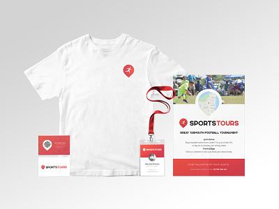 Sports Tours Rebrand t-shirt sports logo sports sport poster mockups mockup logo lanyard geotag clean businesscard branding adobe photoshop adobe illustrator