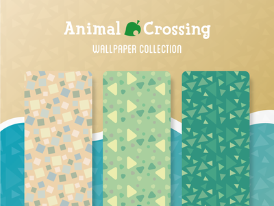 Animal Crossing Pattern Collection texture pattern smartphone mobile wallpapers wallpaper vector simple flat design collection clean background animal crossing adobe illustrator