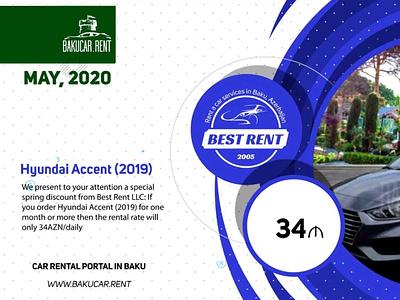 Rent a car deals from BakuCar.Rent, May 2020 banner ad website corporate design video ads video