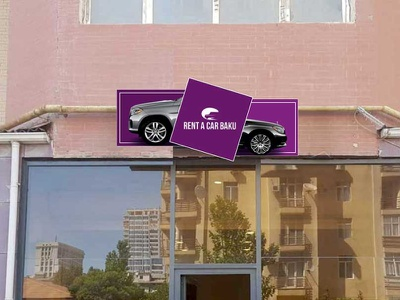 Development of outdoor advertising layout for Rent a car company corporate design design branding outdoor badge outdoors outdoor advertising outdoor
