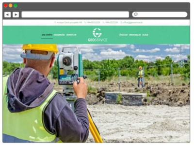 Website development for a geology company website design web design webdesign website