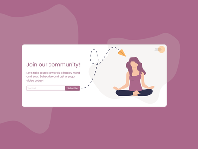 Daily UI 026 - Subscribe healthy mindful signup email day26 yoga subscribe undraw illustration uidesign ux dribbble figma dailyuichallenge design ui dailyui