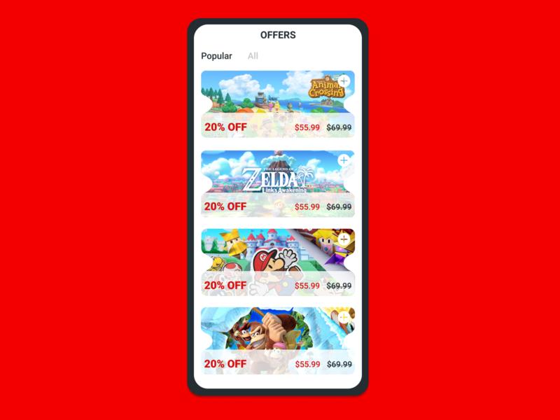 Daily UI 061 - Redeem Coupon switch nintendo games day 61 redeem coupon coupon redeem vector 100daychallenge uidesign ux dribbble ui figma dailyuichallenge design dailyui
