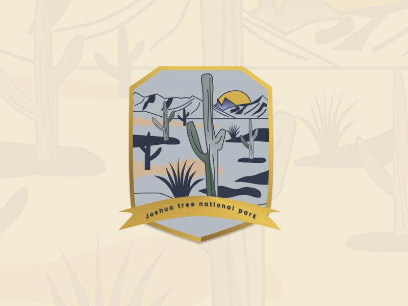 DailyUI #084 - Badge badge dailyui 084 joshua tree desert my first vector art illustration vector 100daychallenge uidesign dribbble figma dailyuichallenge design dailyui
