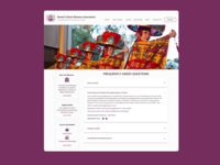 Daily UI #092 - F.A.Q. nonprofit faqs frequently asked questions 092 ui 100daychallenge uidesign dribbble figma dailyuichallenge design dailyui