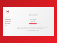 Hawkins product registration page redesign clean ui empathy ux minimal