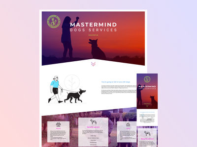 Dog security responsive website ui