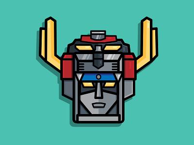 Voltron robots digital illustration adobe graphic design vector typography logo illustration icon design branding