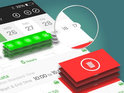 On Schedule appstudioz app development uiux interference design schedule time bestshoot best design texture planner app