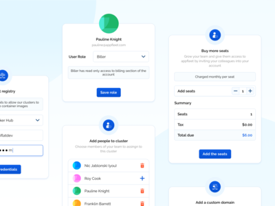 Modal components 🧱 inputs inputs ui atomic design team management add users popup design components saas design saas components cloud saas user management modal ui modal box saas app