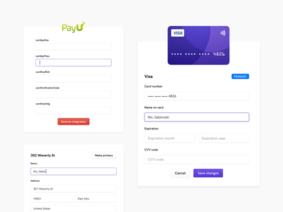Subscrify - modals 👨🏻‍💻🎚 web app inputs input fields forms form design credit card form component design components saas components saas website light ui modals modal design modal box saas modals