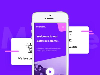 Prismake Mobile Website 🦄