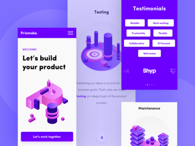 Product Landing Page - mobile