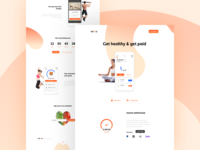 Fitness App 💪 Landing Page