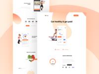 Fitness App 💪 Landing Page