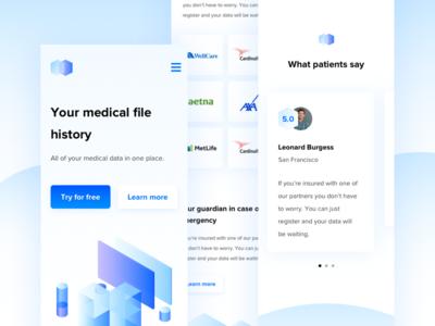 Medifiles - Landing Page mobile 📱