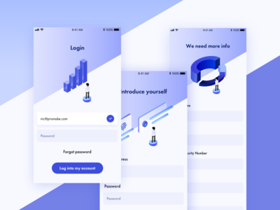 Welcome Illustrations - Investing app 📊💵