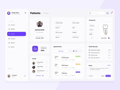 Patient Profile, Clinic App product design uiux illustration sketch