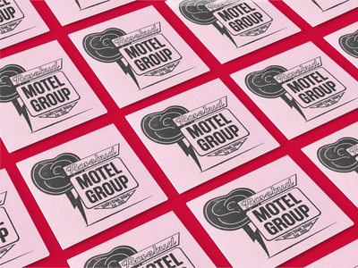 Branding- Rosebud Motel Group branding design retrosupply retrosupplyco midcentury rose motel rosebud motel group rosebud motel retro design retro logo logo brand design branding illustration vintage graphic design retro illustrator design adobe illustrator