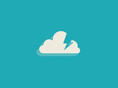 Logo Cloud. lightning logo mark symbol logotype cloud identity brand