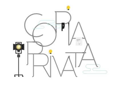 Copia Privata flat bulb light boing illustration after effects motion design magazine motion cinema 8 e mezzo
