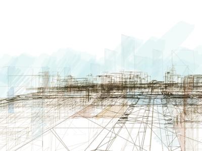 Urban Wireframe Art