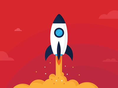 Rocket Illustration design illustration red rocket