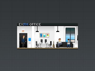 Pixel Office pixelart exfm