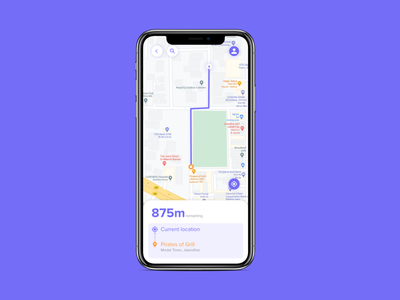 Daily UI #020 location tracker ux design app ui uiux dailyui