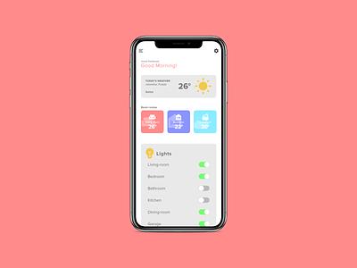Daily UI #021 home monitoring dashboard ux design app uiux ui dailyui