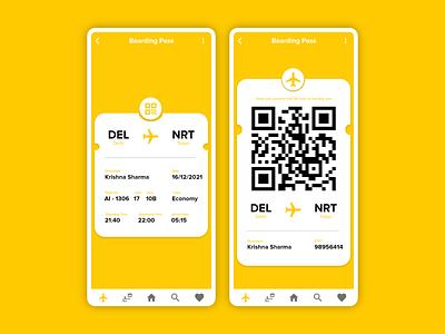 Daily UI #024 boarding pass ux design app uiux ui dailyui