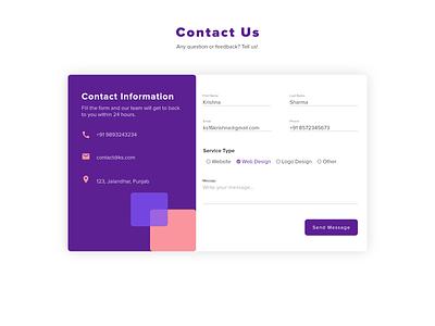 Daily UI #028 contact us webdesign ux design app uiux ui dailyui