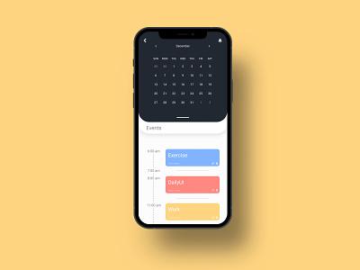 DailyUI #038 calendar ux design app uiux ui dailyui