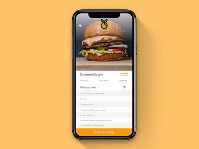 DailyUI #040 recipe app ux design app uiux ui dailyui