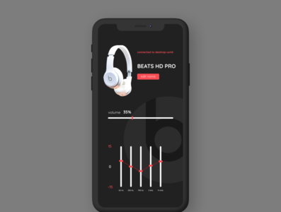 Headphone Settings ui settings mobile daily ui dailyui